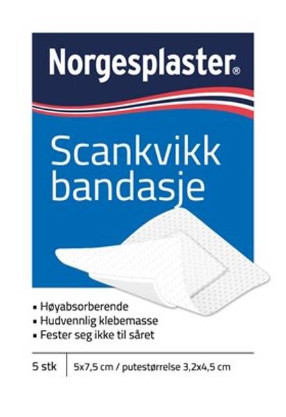 Bilde av Norgesplaster sk bandasje 5  x7,5 cm 5 stk