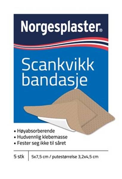 Bilde av Norgesplaster sk bandasje 5 x 7,5cm beige 5 stk
