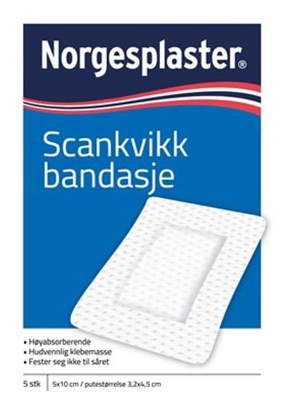 Bilde av Norgesplaster sk bandasje 5 x 10 cm 5 stk
