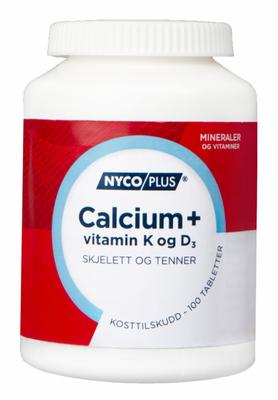 NYCOPLUS CALCIUM M/K&D3 100 TABLETTER