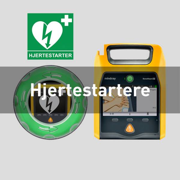 Hjertestarter Mindray Philips Heartsine PAD Cardiac Science Lifeline Førstehjelpsutstyr