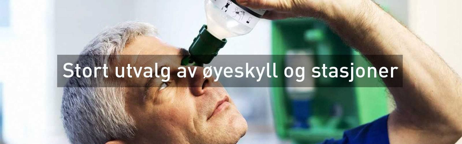 øyeskyll øyeskader Ph nøytral øyedusj øyespray  førstehjelpsutstyr