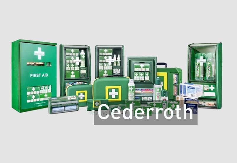 Cederroth førstehjelp plaster brannskade sårskade kuttskade førstehjelpskoffert førstehjelpstavle førstehjelpsutstyr