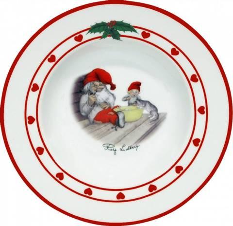 Bilde av Dyp tallerken med nissemotiv