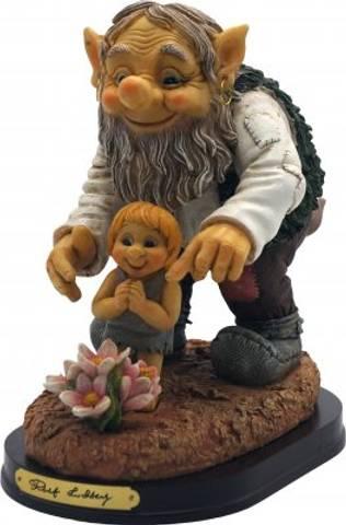 Bilde av Rolf Lidberg - Trollfar m/ barn og blomst
