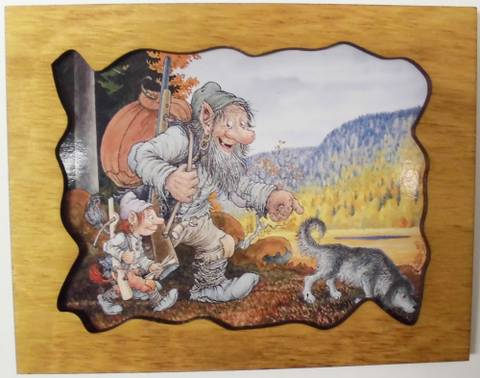 Bilde av Treramme - troll tur i skogen