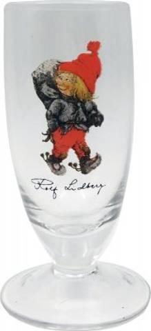 Bilde av Rolf Lidberg - snapsglass nissegutt med sekk 5cl.