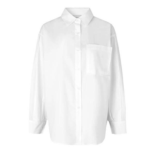 Bilde av Second Female - Larkin New Shirt Hvit