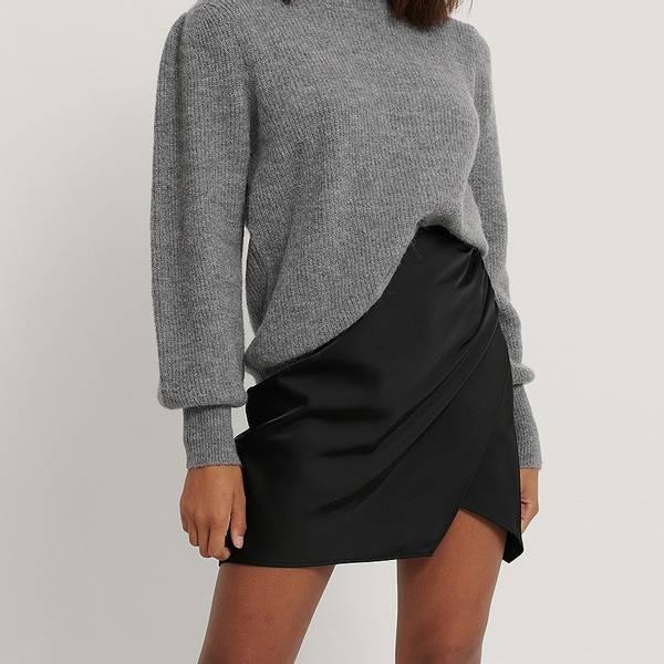 Bilde av NA-KD - Mini Wrap Skirt Svart