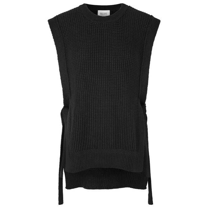 Bilde av Second Female - Aventurine Knit Vest Svart