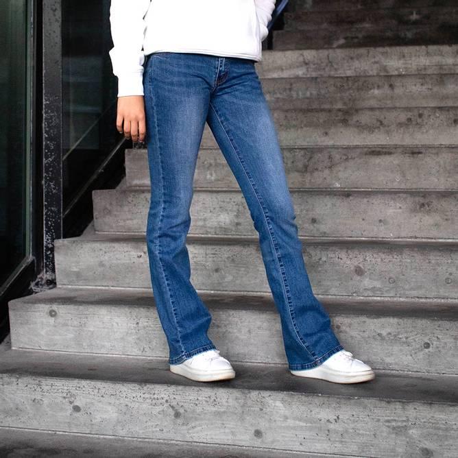 Bilde av The New - Flared jeans blue