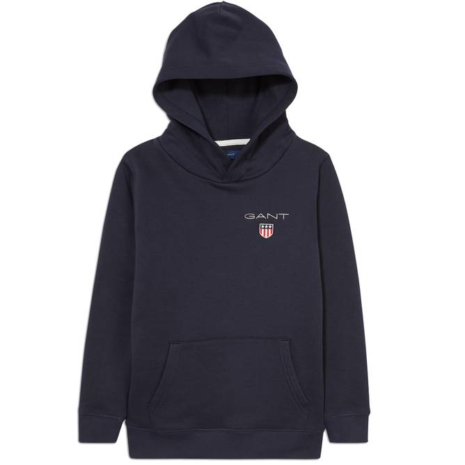 Bilde av GANT -  Medium Shield Sweat Hood Marineblå