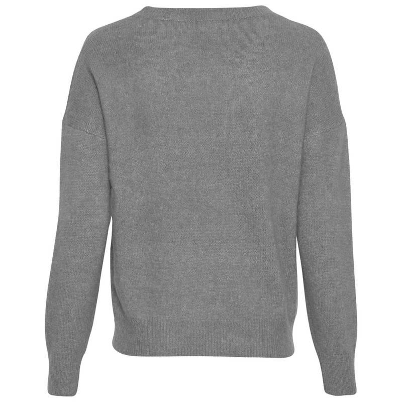 Bilde av Moss Copenhagen - Femme Mohair O Pullover Steel Grey