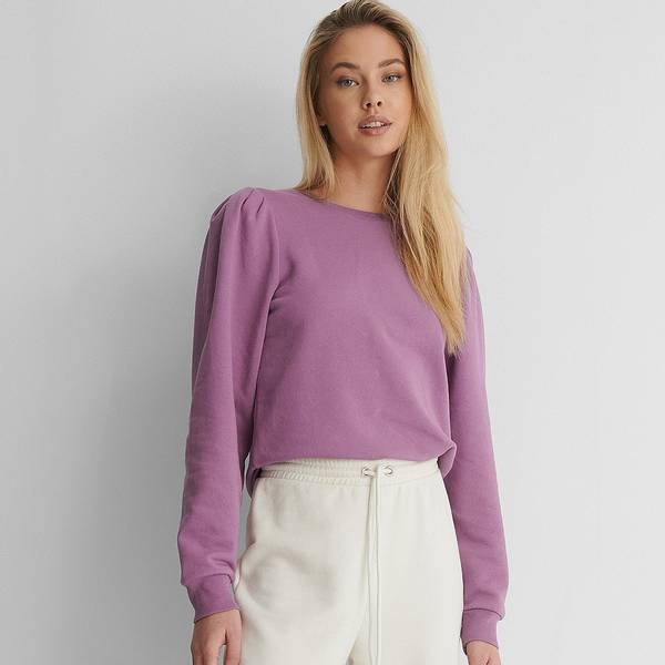 Bilde av NA-KD - Puff Sleeved Sweatshirt Purple