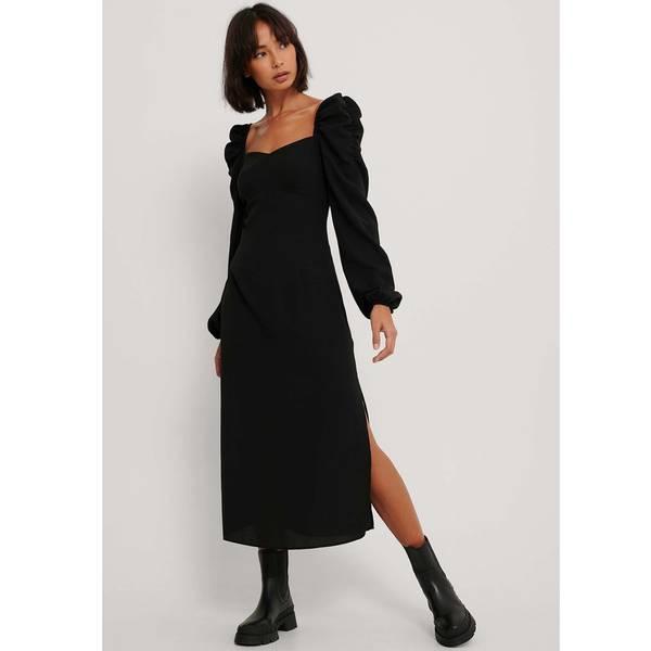 Bilde av NA-KD - Puff Shoulder Midi Dress Svart