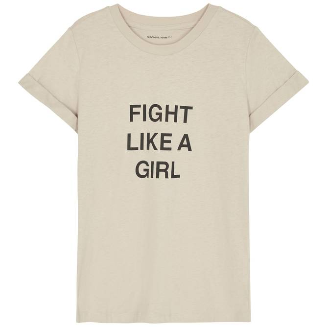 Bilde av Designers Remix Girls - G Stanley Fight Tee Beige