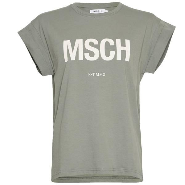 Bilde av Moss Copenhagen - T-skjorte Alva MSCH Agave/Egret