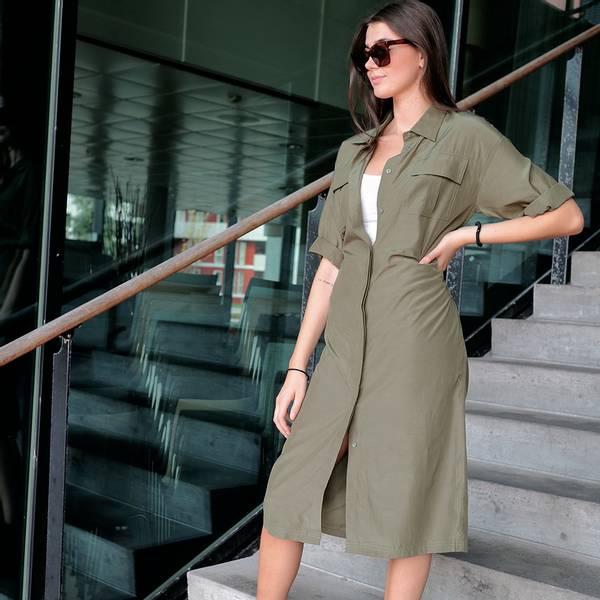 Bilde av Norr - Adelle Shirt Dress