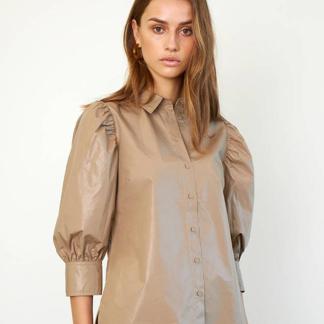 Bilde av Second Female - Lamour Shirt Beige