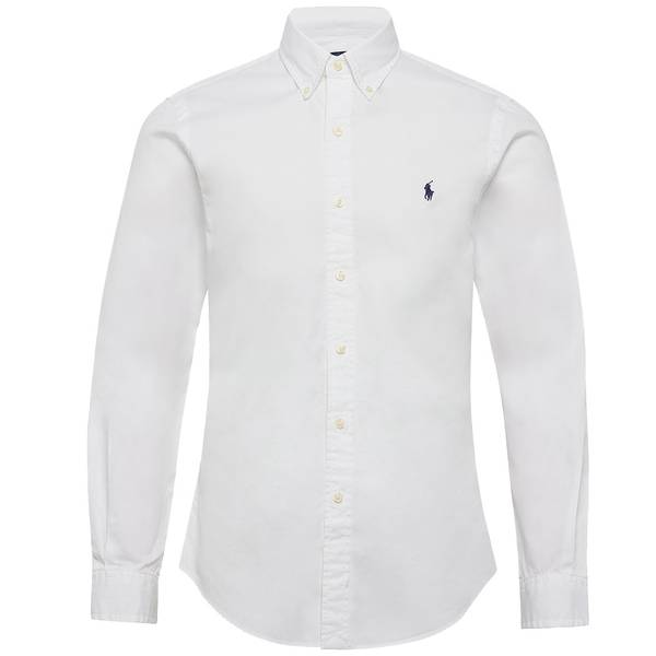 Bilde av Polo Ralph Lauren - Slim Fit Oxford Shirt Hvit