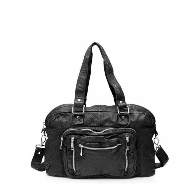 Bilde av Núnoo - Mille Bag Washed Leather Black