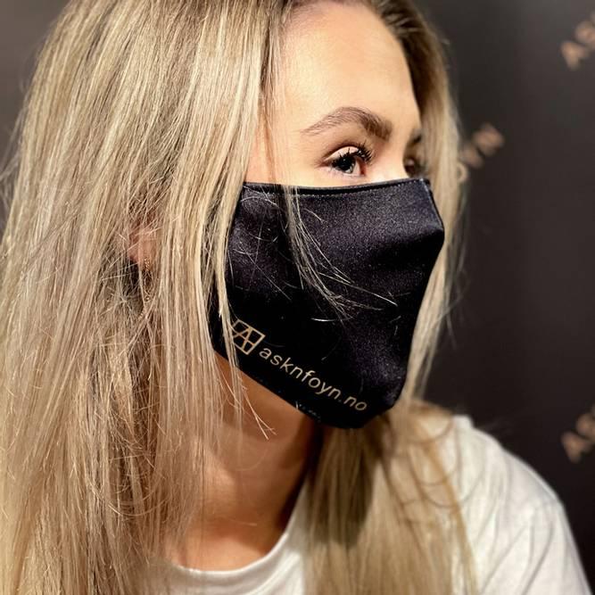 Bilde av Munnbind - Gjenbruks maske i svart