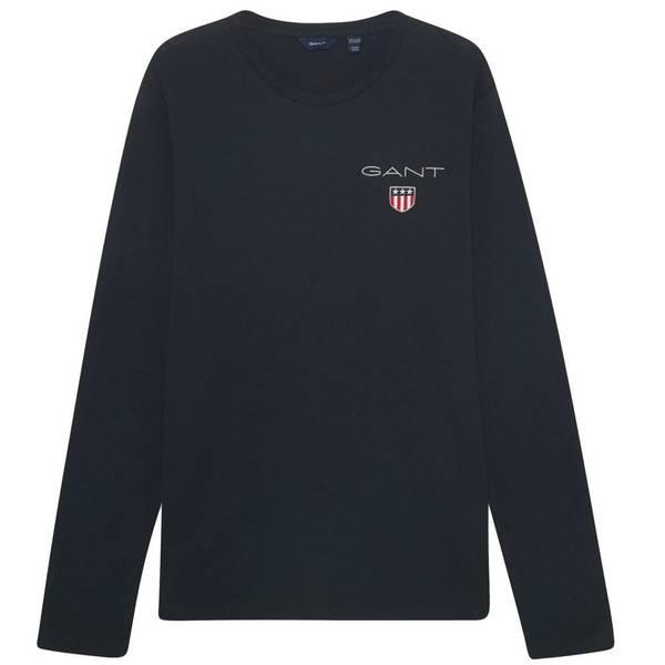 Bilde av GANT - Medium Shield LS T-shirt Marineblå