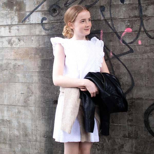 Bilde av Polo Ralph Lauren Kids - Eyelet Dress Hvit Blonde
