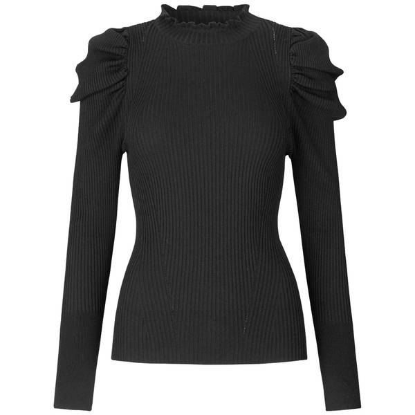 Bilde av Second Female - Canilla Knit T-Neck Svart