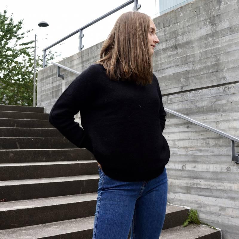 Bilde av Moss Copenhagen - Femme Mohair O Pullover Svart