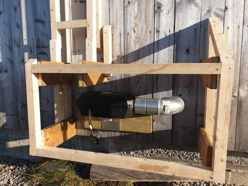4 KW 12V Ring hytta varm full pakke