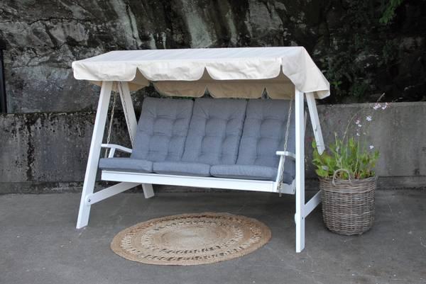Bilde av Dalom hammock med tak - hvit/beige tak