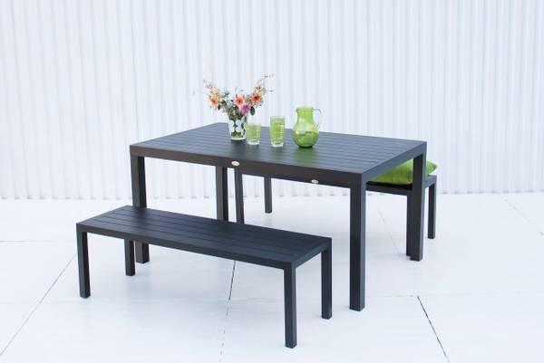 Bilde av Atlantis sett 2 benker+bord - sort