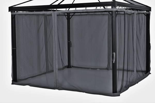 Bilde av Oxford myggnett sett til 3x4 m paviljong - mørk grå