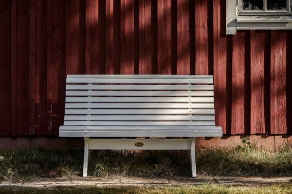 Bilde av Lund benk 139 cm - hvit