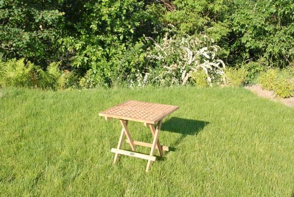 Bilde av Global sammenleggbart piknikbord 50x50 cm - teak