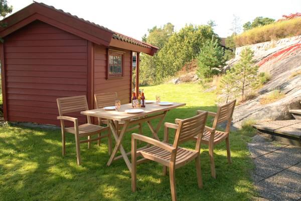 Bilde av Figaro sett 4 stabelbare stoler+bord 120x70 cm - teak