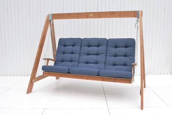 Bilde av Texas Høy hammock putesett - design Jeansblå, 3 puter