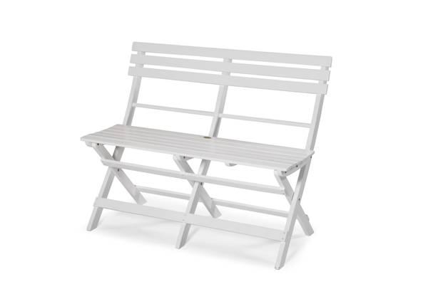 Bilde av Åre sammenleggbar benk - hvit
