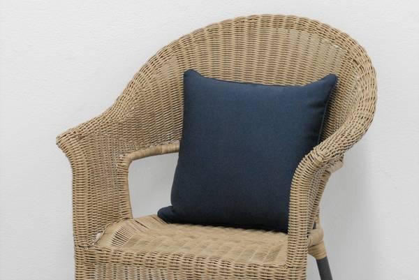 Bilde av Evita pyntepute 40x40 cm - design Mørkeblå