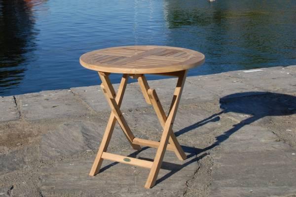 Bilde av Global sammenleggbart spisebord Ø80 cm - teak