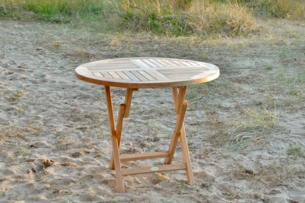 Bilde av Global sammenleggbart spisebord Ø90 cm - teak