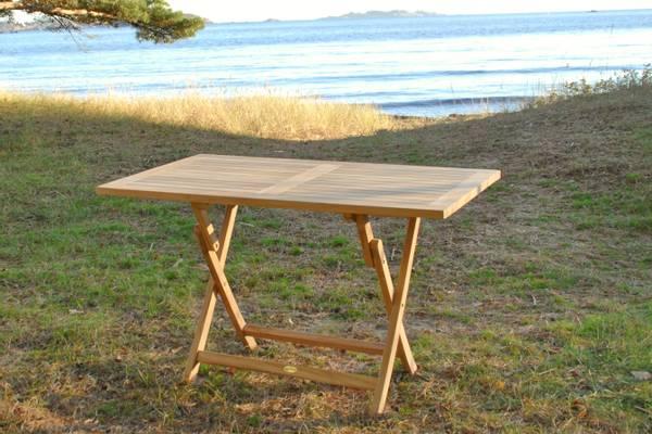 Bilde av Global sammenleggbart spisebord 120x70 cm - teak