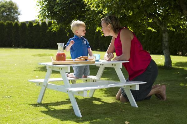 Bilde av Kids  benkesett for barn - hvit