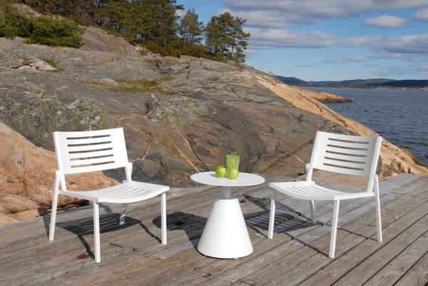 Bilde av Legato sett 2 stoler+bord - hvit