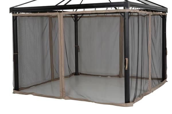 Bilde av Oxford myggnett sett til 3x3 m paviljong - khaki