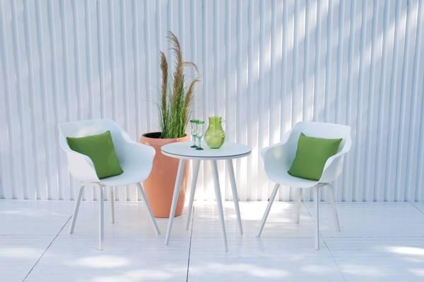 Bilde av Sophie Element sett 2 stoler+bord Ø66 cm - hvit
