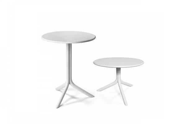 Bilde av Nardi Step høydejusterbart bord Ø60 cm - hvit