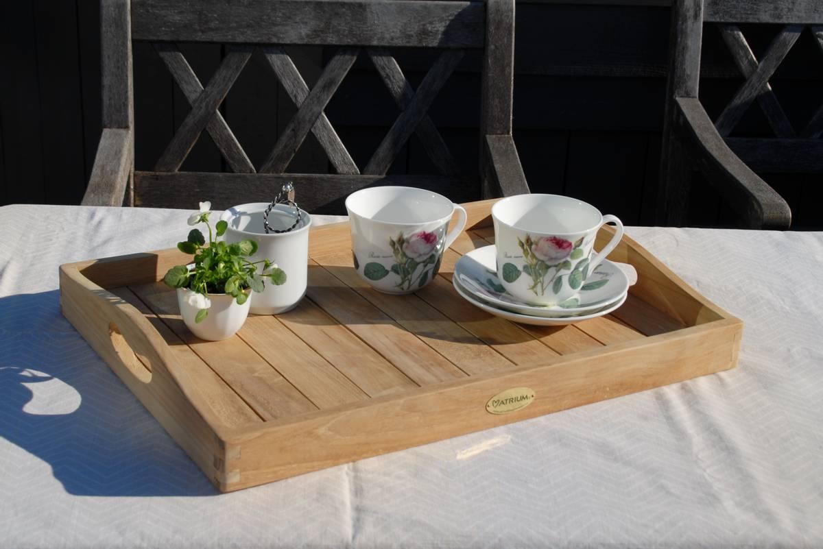 Deco serveringsbrett 54x39 cm - teak