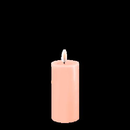 Lys rosa kubbelys 5 x 10 cm